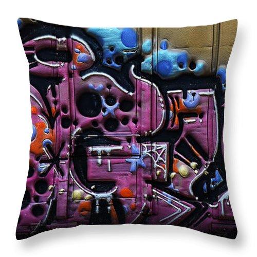 Graffiti Throw Pillow featuring the digital art Bogus by Joshua Roberts