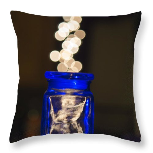 Bokeh Throw Pillow featuring the photograph Bokeh Jar by Cj Avery