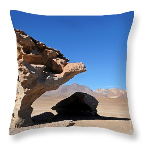 Bolivia Throw Pillow featuring the photograph Bolivia 9 by Vivian Christopher