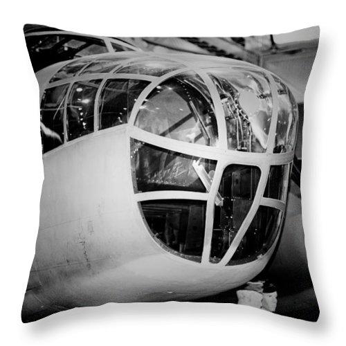 Bomber Aircraft Throw Pillow featuring the photograph Bomber by Douglas Barnard