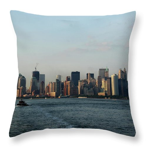 Tug Throw Pillow featuring the photograph Bon Voyage by Christiane Schulze Art And Photography