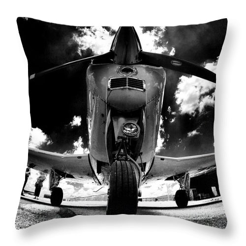 Bonanza Throw Pillow featuring the photograph Bonanza In Black And White by Paul Job