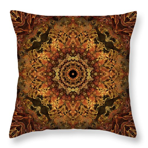 Bone Throw Pillow featuring the digital art Bone Tapestry 2 by Anthony Weinedel