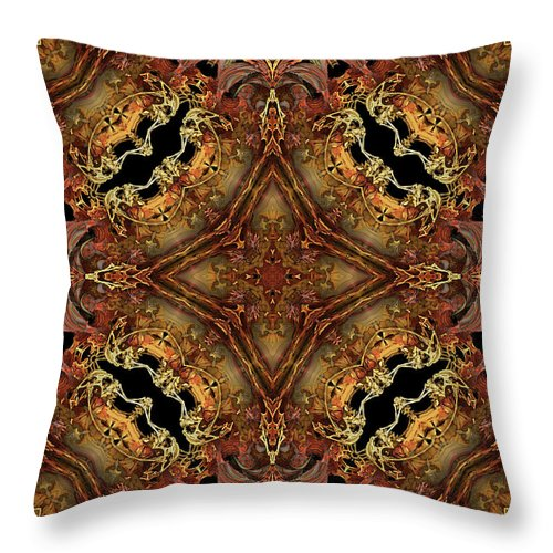 Bone Throw Pillow featuring the digital art Bone Tapestry by Anthony Weinedel