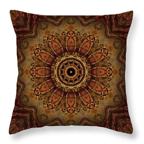 Boneflower Throw Pillow featuring the digital art Boneflower 2 by Anthony Weinedel
