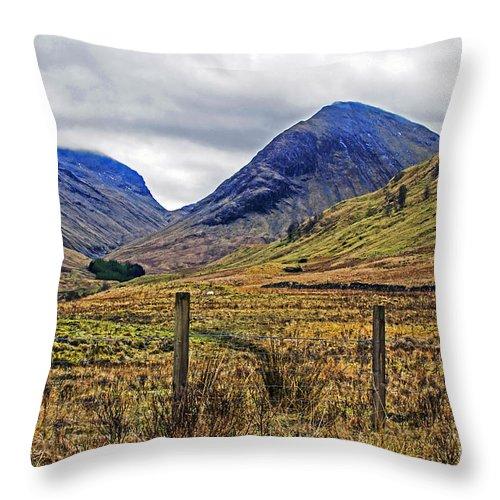 Travel Throw Pillow featuring the photograph Bonny Scotland by Elvis Vaughn