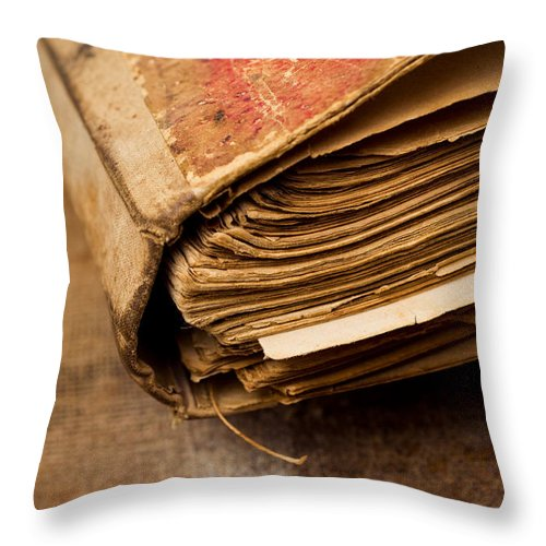Ancient Throw Pillow featuring the photograph Book by Viktor Pravdica