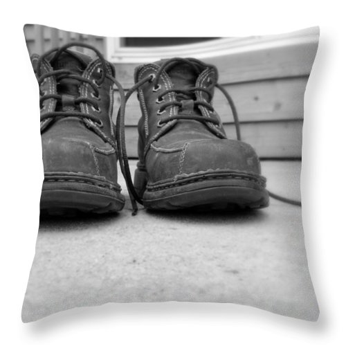 Boots Throw Pillow featuring the photograph Boots by Jackson Pearson