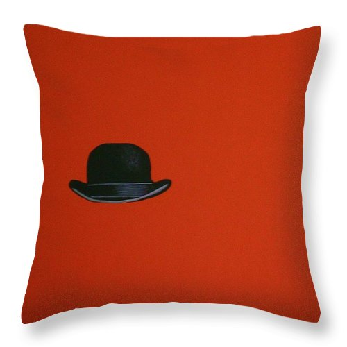 Modern Art Throw Pillow featuring the painting Bootytang Orange by Venus
