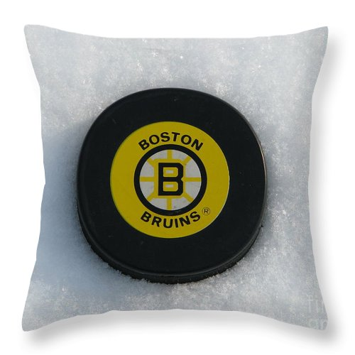 Boston Throw Pillow featuring the photograph Boston Bruins by Michael Krek