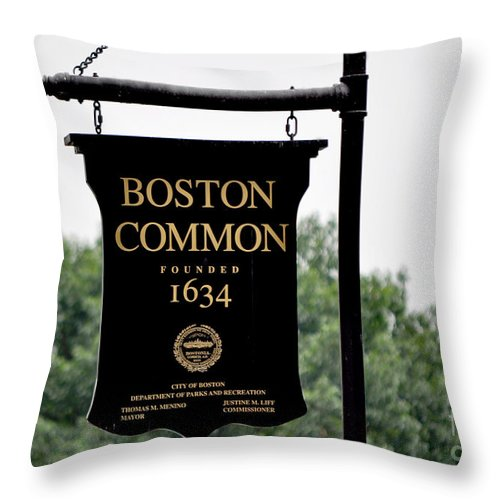 Massachusetts Throw Pillow featuring the photograph Boston Common Ma by Staci Bigelow