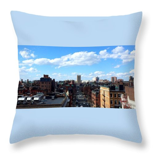 Boston Throw Pillow featuring the photograph Boston by Paul Wilford