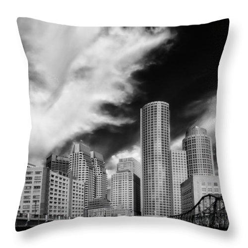 Boston Throw Pillow featuring the photograph Boston Skyline by Mountain Dreams