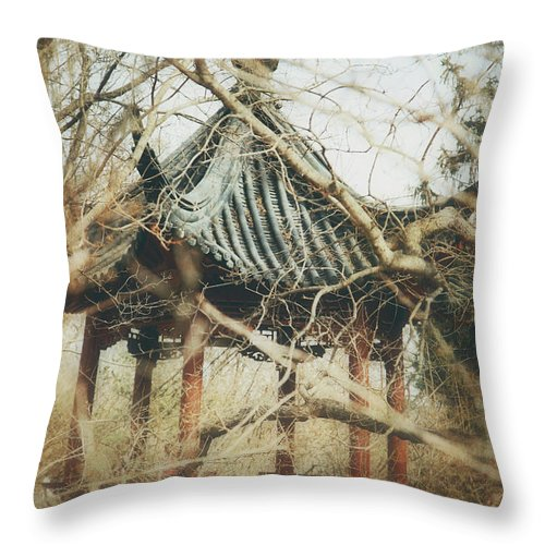 Pavillion Throw Pillow featuring the photograph Botanicals by Lori Peterson