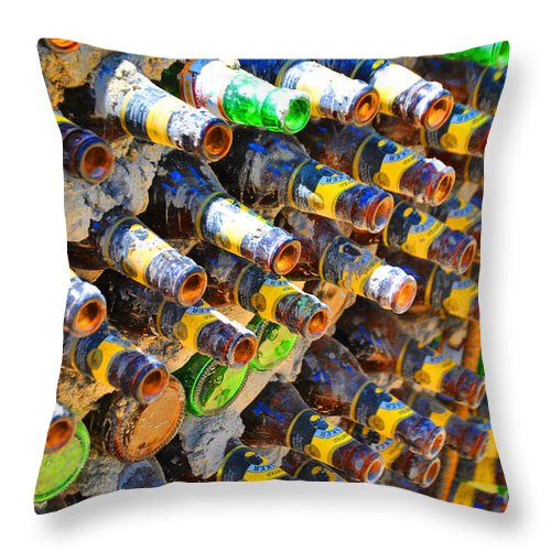 Bottle Throw Pillow featuring the photograph Bottle Color by Jost Houk