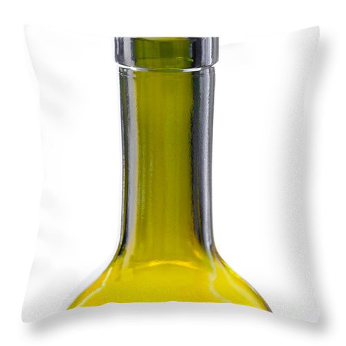 Abstract Throw Pillow featuring the photograph Bottleneck by Alain De Maximy