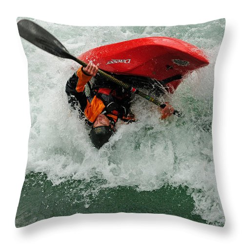 Kayaking Throw Pillow featuring the photograph Bottoms Up by Vivian Christopher