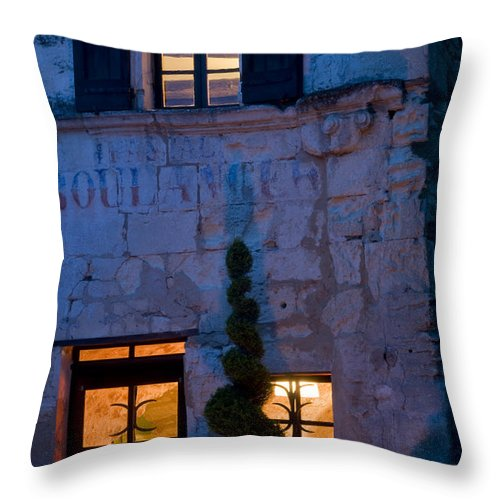 Lacoste Throw Pillow featuring the photograph Boulangerie by Bob Phillips