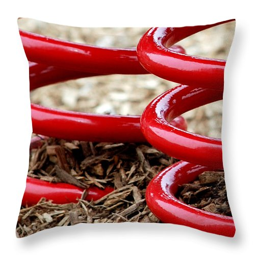 Bounce Throw Pillow featuring the photograph Bounce by Lisa Phillips