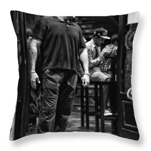 Bouncer Throw Pillow featuring the photograph Bouncer by Pablo Lopez