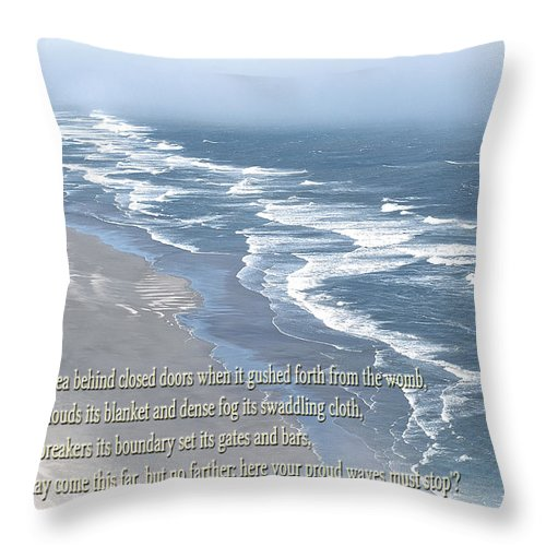 Oregon Coast Throw Pillow featuring the photograph Boundaries Of Beaches by Tikvah's Hope