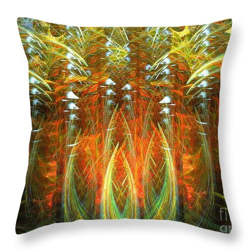 Apophysis Throw Pillow featuring the digital art Bouquet Garni by Kim Sy Ok