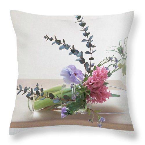 Bouquet Throw Pillow featuring the photograph Bouquet by Presilla