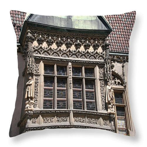 Bowfront Throw Pillow featuring the photograph Bowfront City Hall Wroclaw by Christiane Schulze Art And Photography