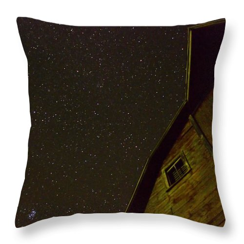 Barn Throw Pillow featuring the photograph Boylan Creek At Night by Bonfire Photography