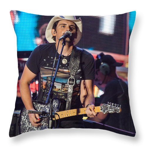 Bran Paisley Throw Pillow featuring the photograph Brad Paisley 2 by Mike Burgquist