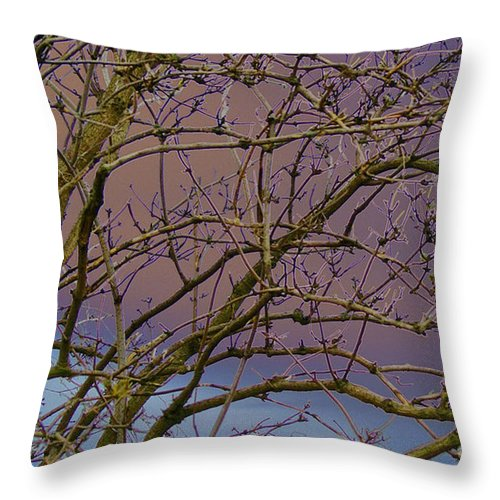 Branches Throw Pillow featuring the digital art Branches by Carol Lynch