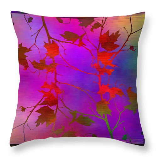 Tree Throw Pillow featuring the digital art Branches In The Mist 13 by Tim Allen
