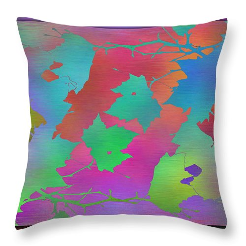 Abstract Throw Pillow featuring the digital art Branches In The Mist 49 by Tim Allen