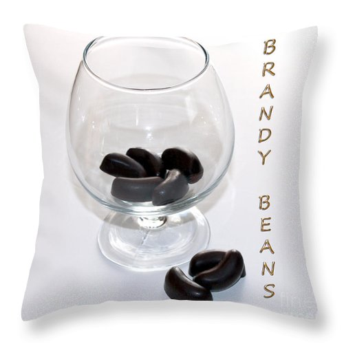 Brandy Throw Pillow featuring the photograph Brandy Beans - Liqueur - Chocolate by Barbara Griffin