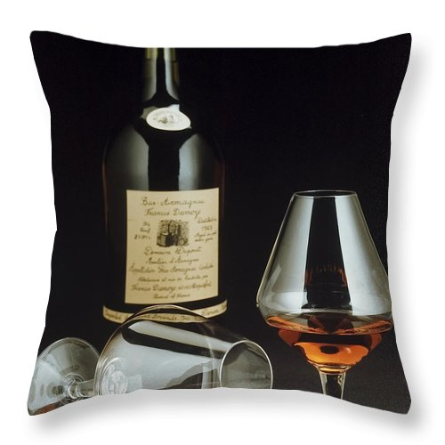 Wine Throw Pillow featuring the photograph Brandy by Jerry McElroy
