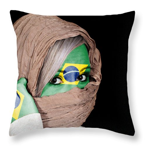 Headscarf Throw Pillow featuring the photograph Brazil by Paul Fell