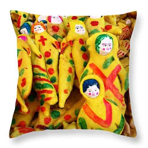 Bolivia Throw Pillow featuring the photograph Bread Souls by James Brunker