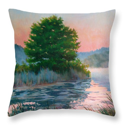 Impressionism Throw Pillow featuring the painting Break Of Day by Keith Burgess