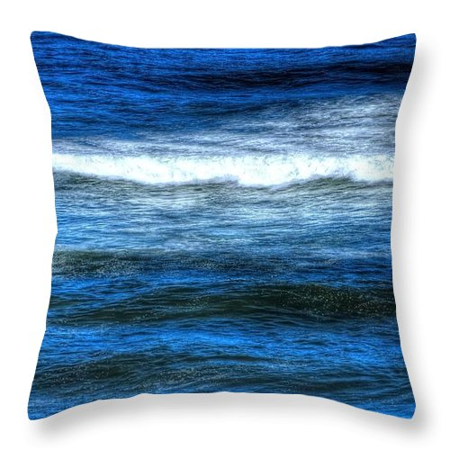 Breaker Throw Pillow featuring the photograph Breaker 17645 by Jerry Sodorff