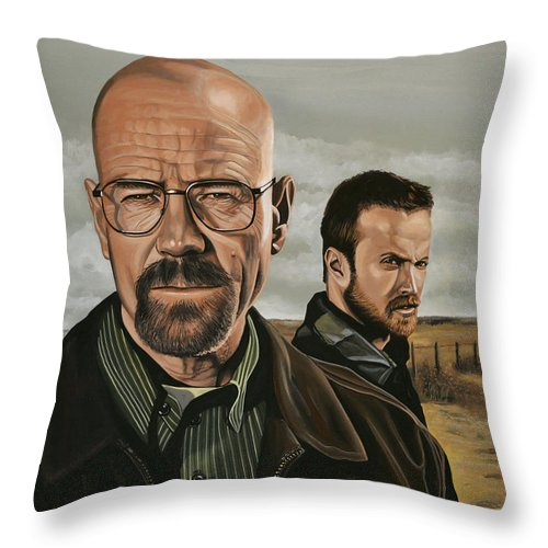 Breaking Bad Throw Pillow featuring the painting Breaking Bad by Paul Meijering