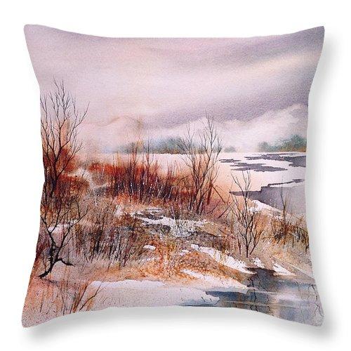 Breakup Ii Throw Pillow featuring the painting Breakup II by Teresa Ascone