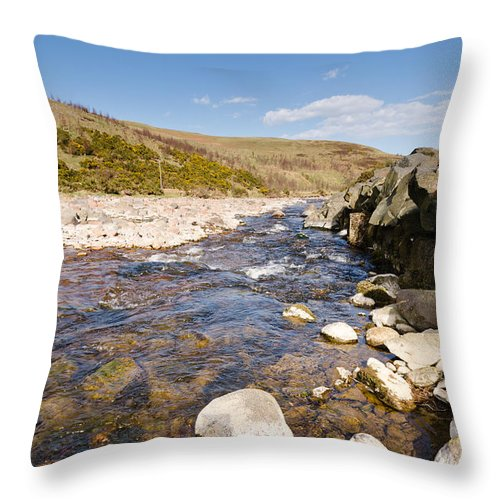 Northumberland Throw Pillow featuring the photograph Breamish River by David Head