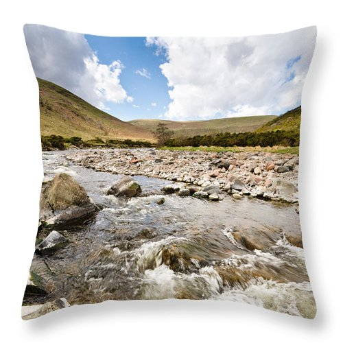 Northumberland Throw Pillow featuring the photograph Breamish Valley  by David Head