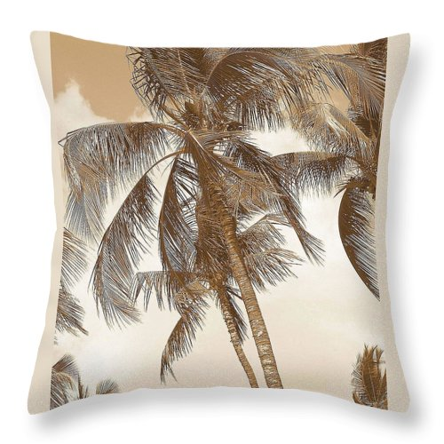 Sepia Sunset Pictures Throw Pillow featuring the photograph Breeze by Athala Carole Bruckner