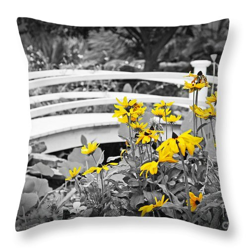 Bridge Throw Pillow featuring the photograph Botanical Gardens by Terri Mills