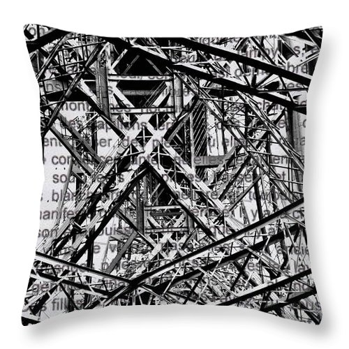 Digital Throw Pillow featuring the digital art Bridging Books by Mary Clanahan