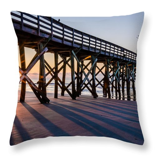 Charleston Throw Pillow featuring the photograph Bright New Day by Kelly McNamara