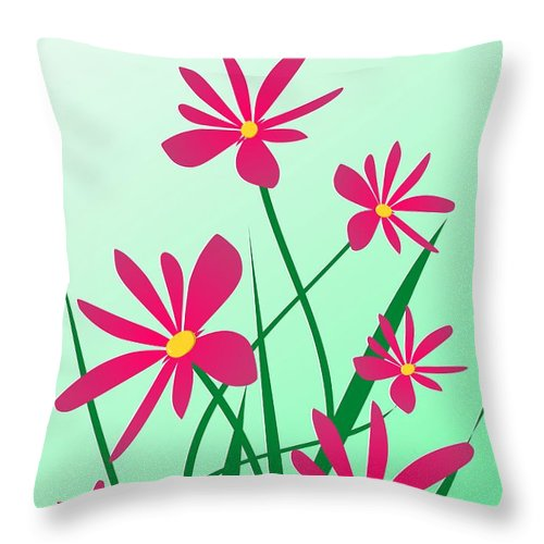 Graphic Throw Pillow featuring the digital art Brighten Your Day by Anastasiya Malakhova
