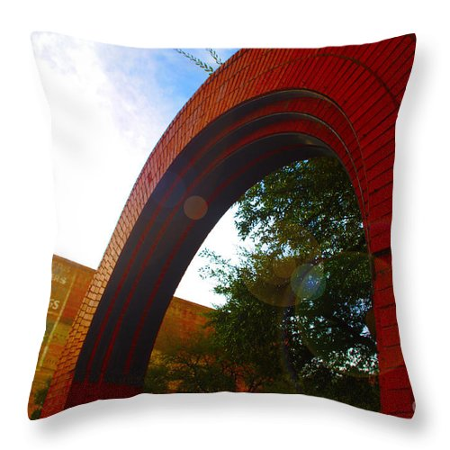 Architecture Throw Pillow featuring the photograph Brighter Than The Sun by Brandi Christon