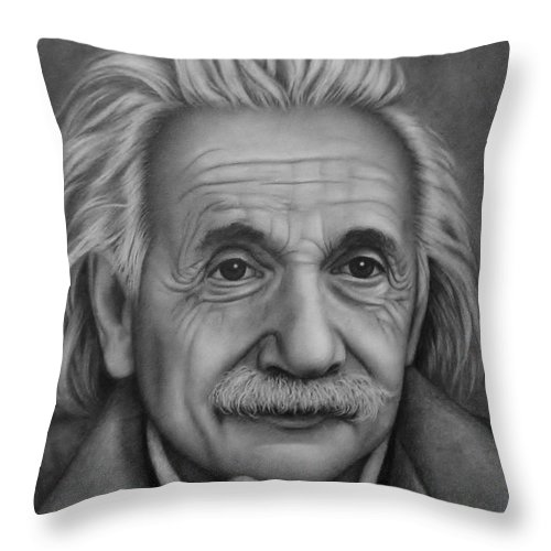 Graphite Throw Pillow featuring the painting Brilliant Mind by Paula Ludovino